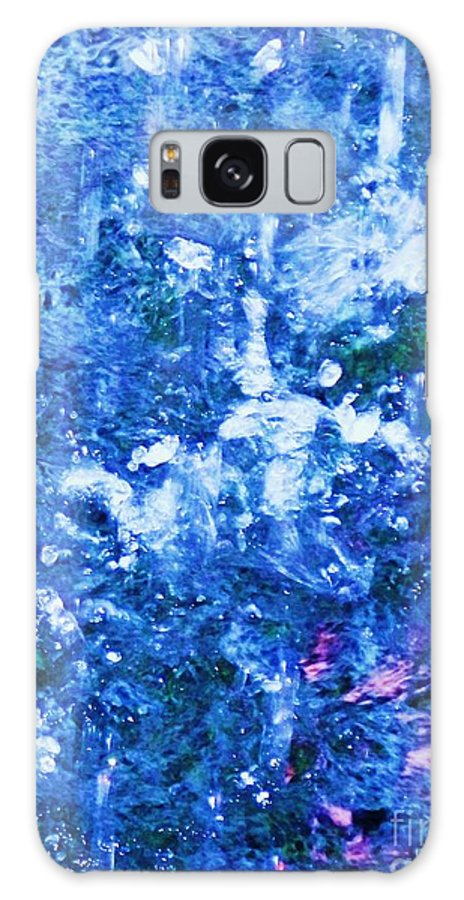 Abstract Galaxy S8 Case featuring the photograph Abstract Splashing Water by Eric Schiabor