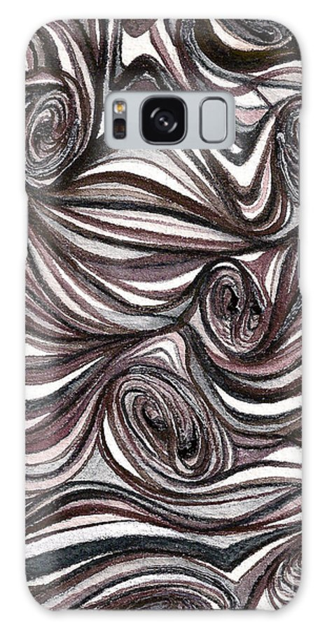Abstract Prints Galaxy Case featuring the painting Abstract Swirls by Nan Wright
