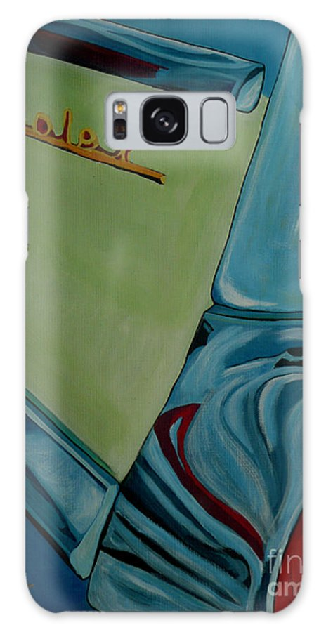 Chevy Galaxy S8 Case featuring the painting Chevrolet by Anthony Dunphy