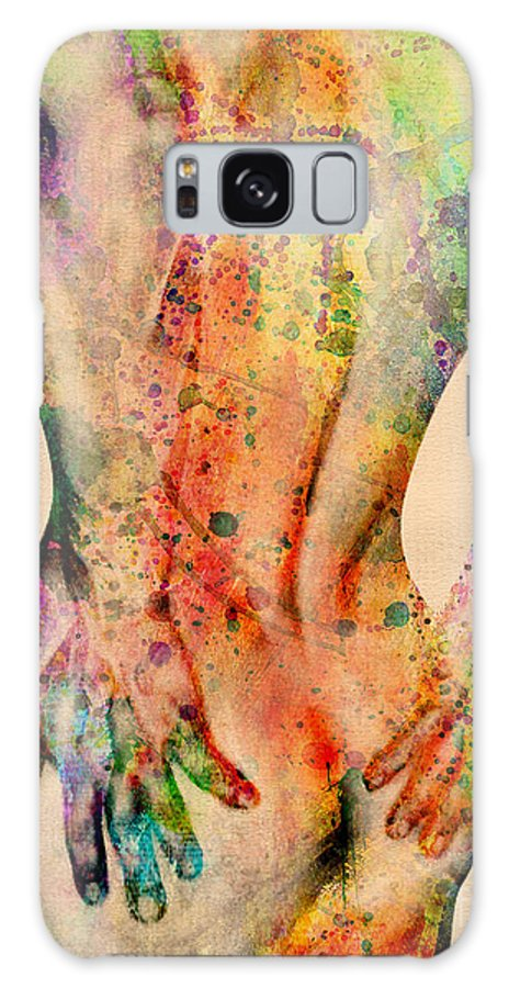 Male Nude Galaxy Case featuring the digital art Abstractiv Body - 4 by Mark Ashkenazi