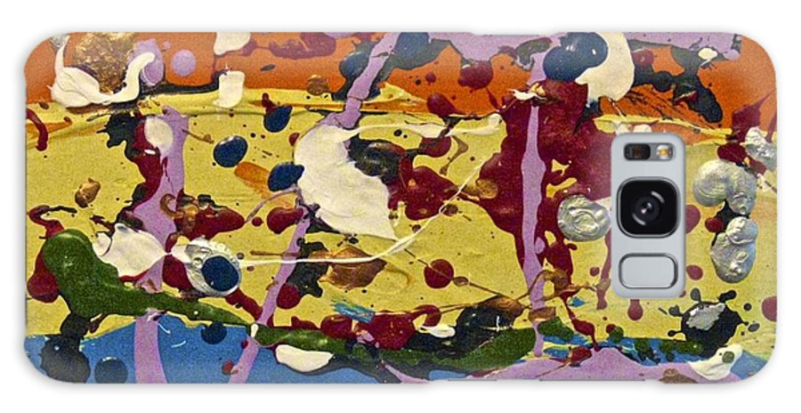 Abstract Galaxy S8 Case featuring the painting Abstracts 14 - The Circus by Mario MJ Perron