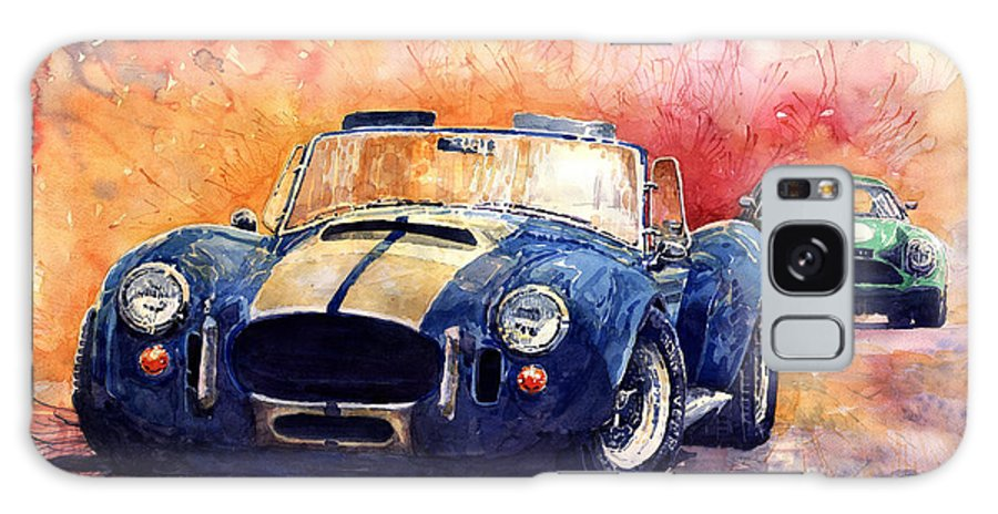 Shevchukart Galaxy Case featuring the painting AC Cobra Shelby 427 by Yuriy Shevchuk