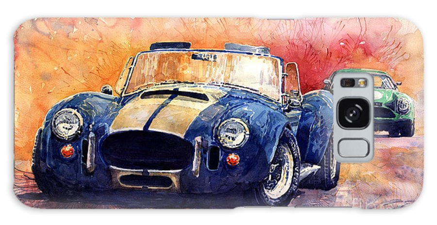 Ac Cobra Galaxy S8 Case featuring the painting Ac Cobra Shelby 427 by Yuriy Shevchuk