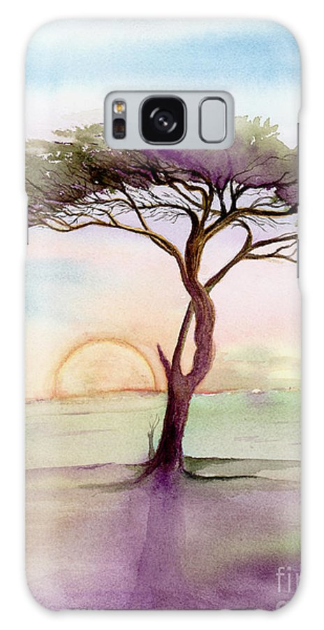 L. T. Sparrow Galaxy S8 Case featuring the painting Acacia Sunrise by L T Sparrow