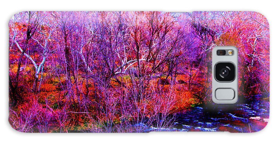World On Acid Galaxy S8 Case featuring the photograph Acid By The Creek by Kent Nancollas