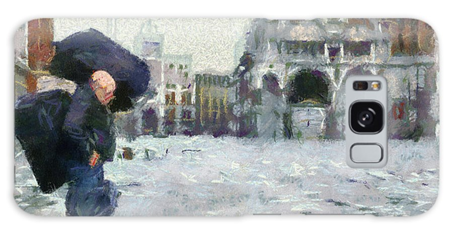 Acqua Alta Venice Galaxy S8 Case featuring the painting Acqua Alta Venice by Clai