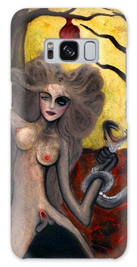 Adam Galaxy S8 Case featuring the painting Adam and Eve by Ayka Yasis
