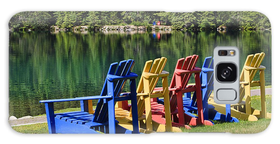 Adirondack Chairs Galaxy S8 Case featuring the photograph Adirondacks At Jasper Lodge by Dennis Hedberg