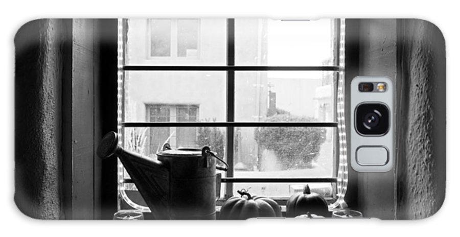 Adobe Galaxy S8 Case featuring the photograph Adobe Window Autumn Still Life by Robert Meyers-Lussier