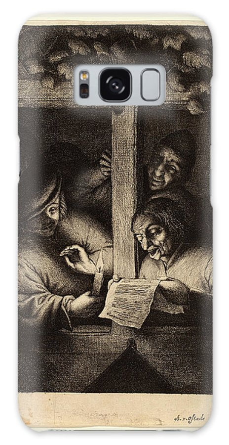 Adriaen Van Ostade Galaxy S8 Case featuring the drawing Adriaen Van Ostade Dutch, 1610-1685, The Singers by Litz Collection