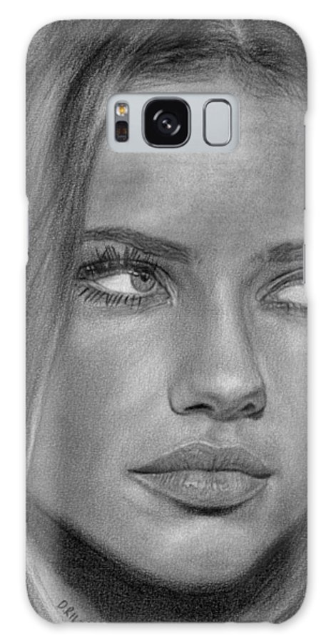 Models Galaxy S8 Case featuring the drawing Adriana Lima 2 by David Rives