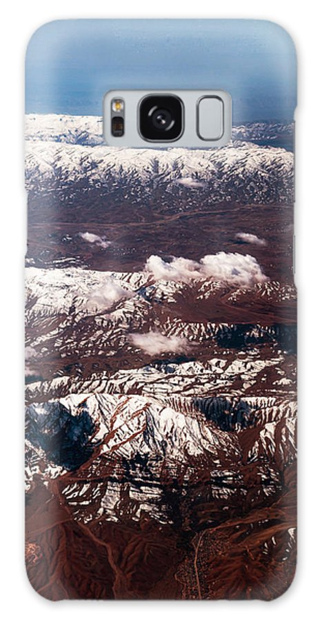 Aerial Galaxy S8 Case featuring the photograph Aeial View Of The Snowy Mountains by Jenny Rainbow