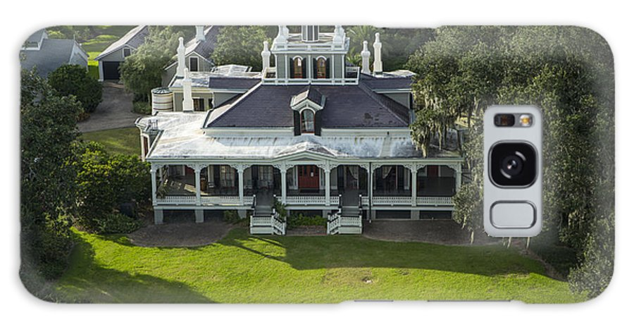 Joseph Jefferson Hunting Lodge Galaxy S8 Case featuring the photograph Aerial Of Jefferson Mansion by Kelly Morvant