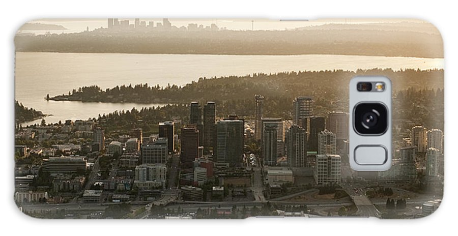 Bellevue Skyline Galaxy S8 Case featuring the photograph Aerial View Of Bellevue Skyline by Jim Corwin