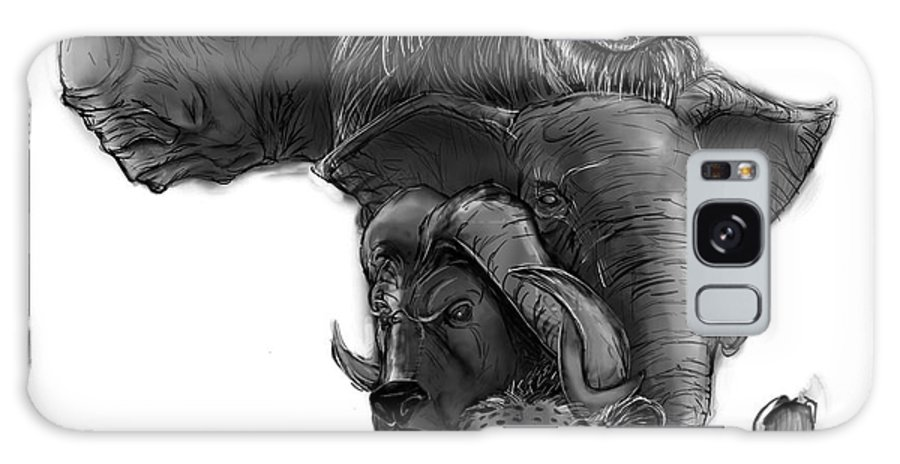 Animal Galaxy S8 Case featuring the digital art Africa by Brandon Kelly