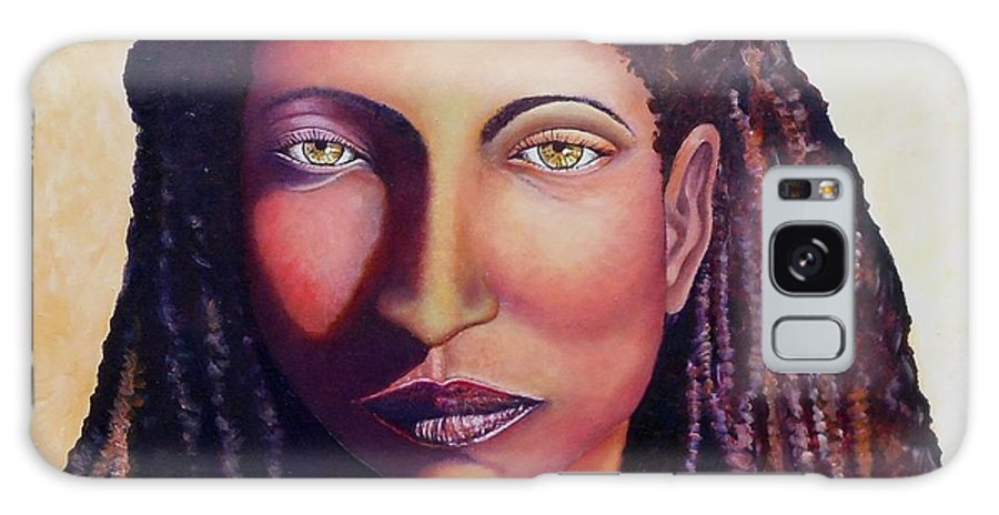 African Faces Galaxy S8 Case featuring the painting An African Face by Caroline Street