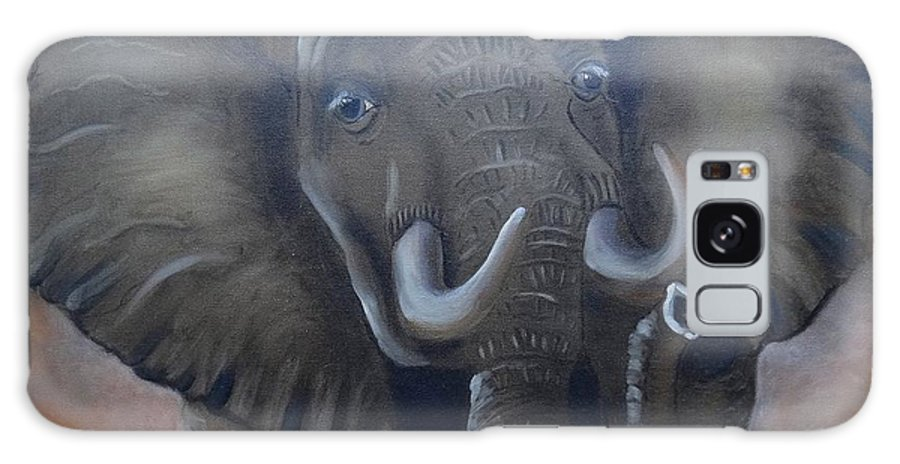 African Elephant Galaxy S8 Case featuring the painting African Elephant by Fineartist Ellen
