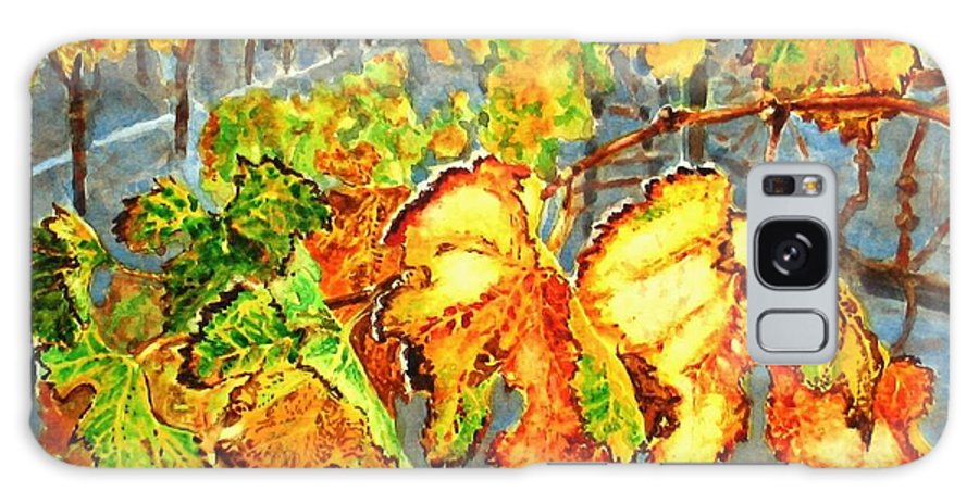 Vineyard Galaxy Case featuring the painting After The Harvest by Karen Ilari