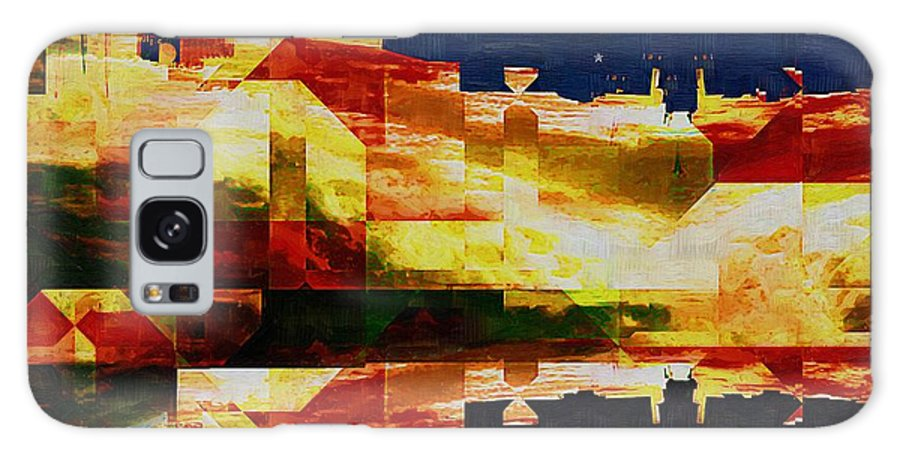 Abstract Galaxy S8 Case featuring the painting After The Icebergs Melt by RC DeWinter