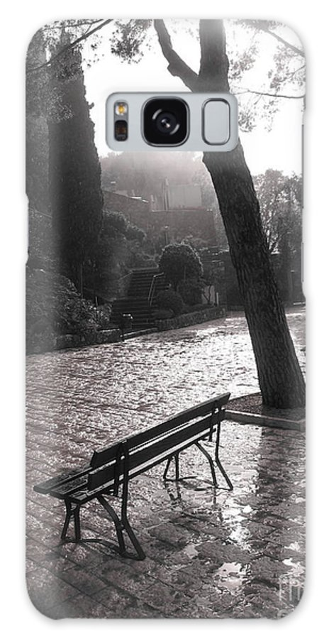 Courtyard Galaxy S8 Case featuring the photograph After The Rain by Maureen J Haldeman