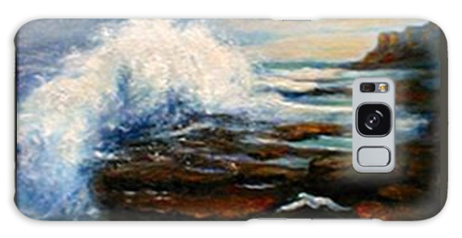 Seascape Galaxy S8 Case featuring the painting After The Storm by Gail Kirtz