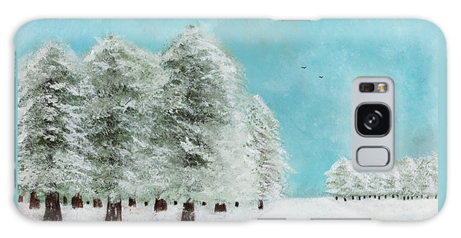 Landscape Galaxy S8 Case featuring the painting After The Storm by Hillary Binder-Klein