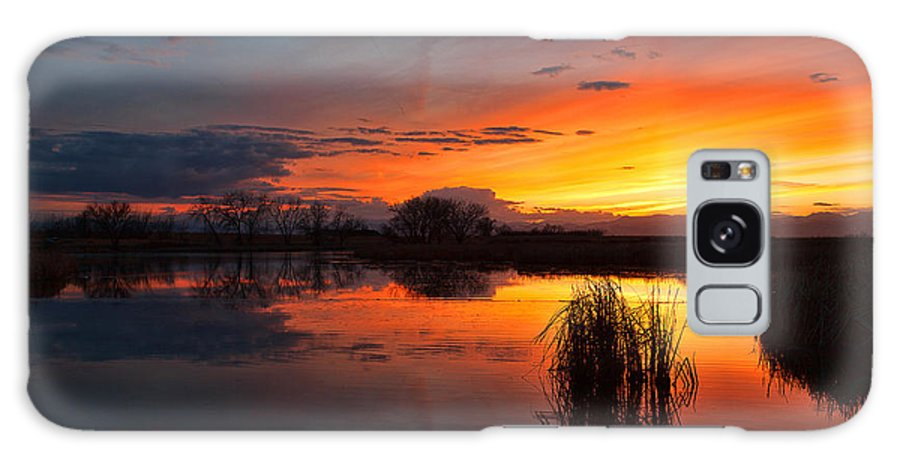 Sunsets Galaxy S8 Case featuring the photograph Afterglow by Jim Garrison