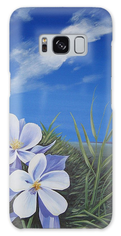 Landscape Galaxy Case featuring the painting Afternoon High by Hunter Jay