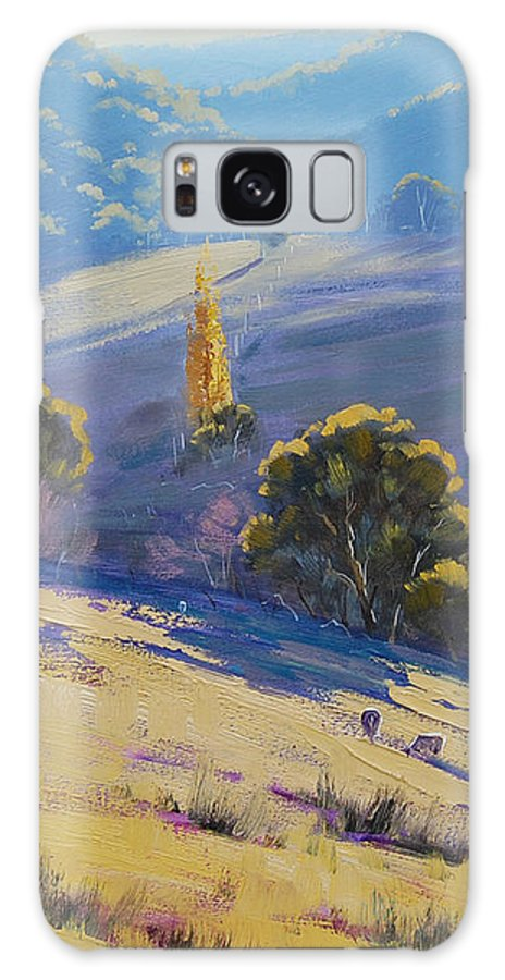 Rural Galaxy S8 Case featuring the painting Afternoon Light Grazing by Graham Gercken