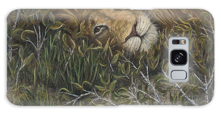 Lion Galaxy S8 Case featuring the painting Afternoon Nap by June Hunt