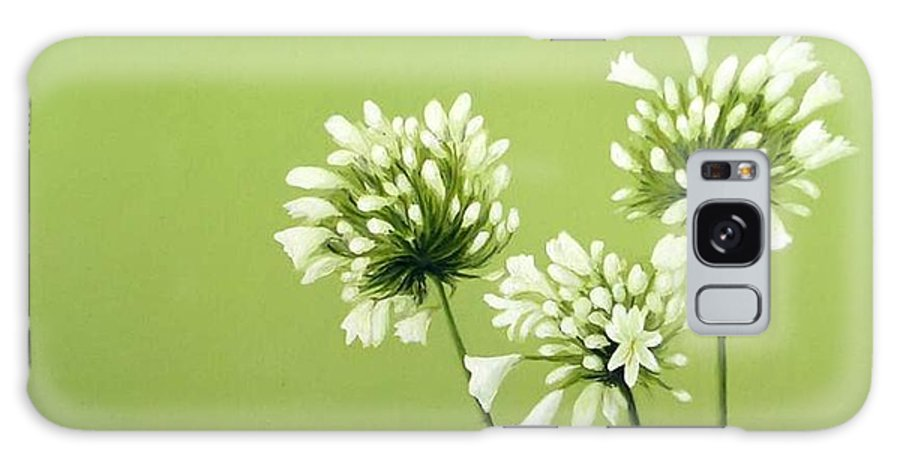 Flower Galaxy Case featuring the painting Agapanthus by Trisha Lambi