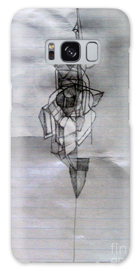 Torah Galaxy S8 Case featuring the drawing Self-renewal 5 by David Baruch Wolk