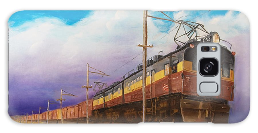 Electric Locomotive Galaxy S8 Case featuring the painting Ahead Of The Weather by Christopher Jenkins