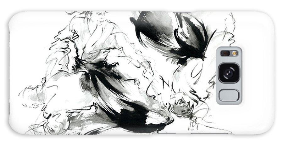 Aikido Randori Techniques Kimono Martial Arts Sumi-e Samurai Ink Painting  Artwork Galaxy S8 Case