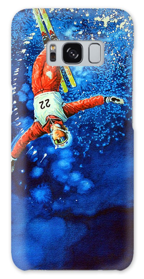 Sports Art Galaxy S8 Case featuring the painting Air Force by Hanne Lore Koehler