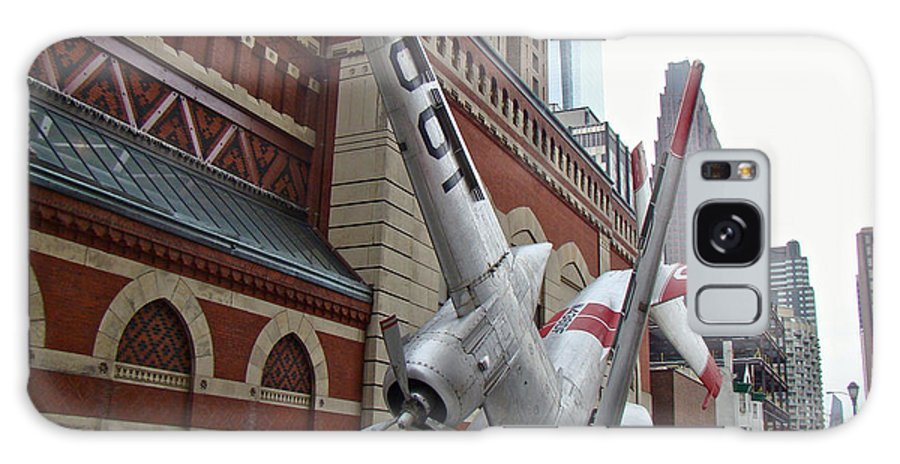 Airplane Galaxy S8 Case featuring the photograph Airplane Sculpture In Philadelphia Pa - Navy S2f by Mother Nature
