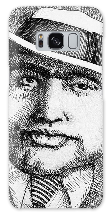 Mobster Galaxy S8 Case featuring the mixed media Al Capone 1931 by Jerry Stinson