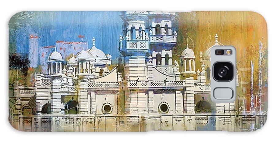 Al Haadi Al Sufi Mosque Galaxy S8 Case featuring the painting Al Haadi Al Sufi Mosque by Corporate Art Task Force