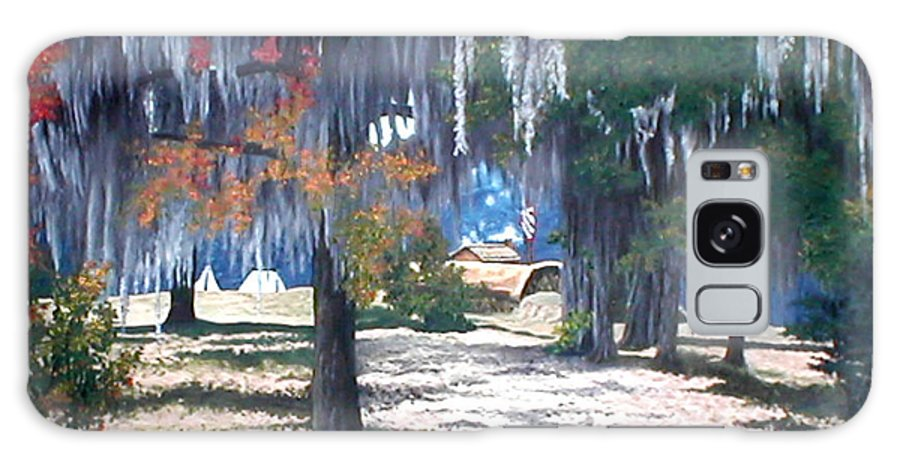 Fort Jackson Galaxy S8 Case featuring the painting Alabama Fort Jackson by Beth Parrish