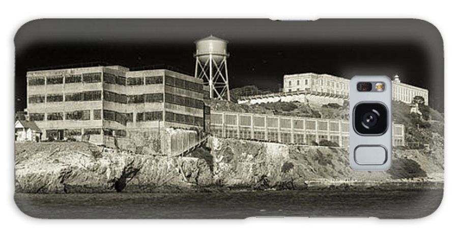 Alcatraz Galaxy S8 Case featuring the photograph Alcatraz The Rock Sepia 1 by Scott Campbell
