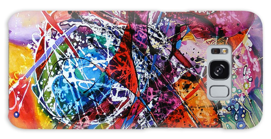 Abstract Galaxy S8 Case featuring the painting Alesecrito by Elena Bissinger