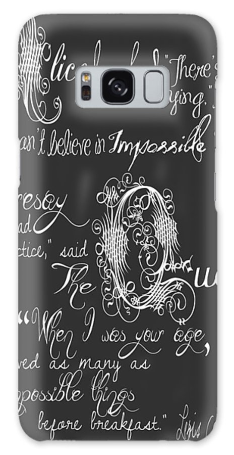 The Sweet Drawer Galaxy S8 Case featuring the digital art Alice In Wonderland by The Sweet Drawer