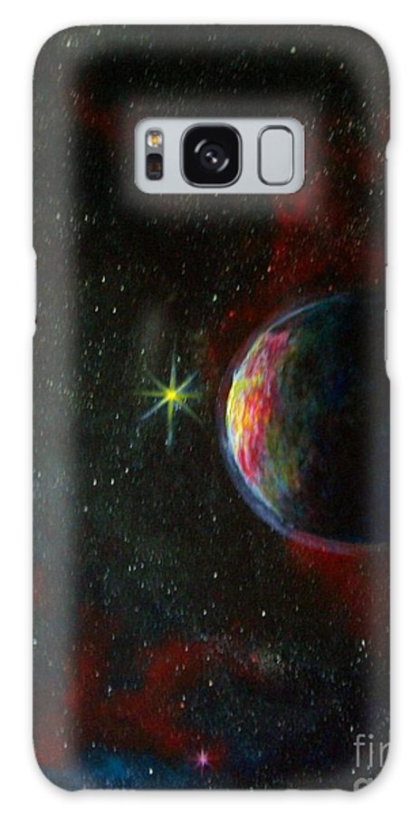 Cosmos Galaxy S8 Case featuring the painting Alien Worlds by Murphy Elliott