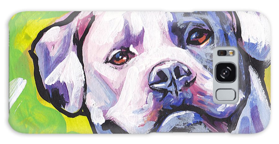 American Bulldog Galaxy S8 Case featuring the painting All American Bully by Lea S