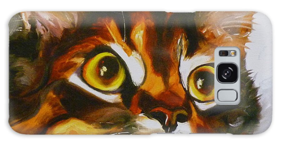 Cat Galaxy S8 Case featuring the painting All Yours by Susan A Becker