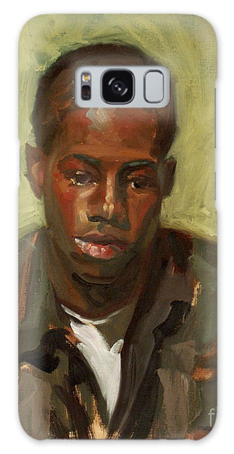 African American Boy Youth Portrait Alla Prima Galaxy S8 Case featuring the painting Alla Prima Of A Boy by Blair Updike