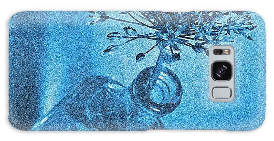Allium Galaxy S8 Case featuring the photograph Allium Cyanotype by Chris Berry