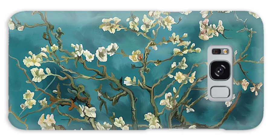 Almond Galaxy S8 Case featuring the painting Almond Blossoms' Reproduction by Tim Gilliland