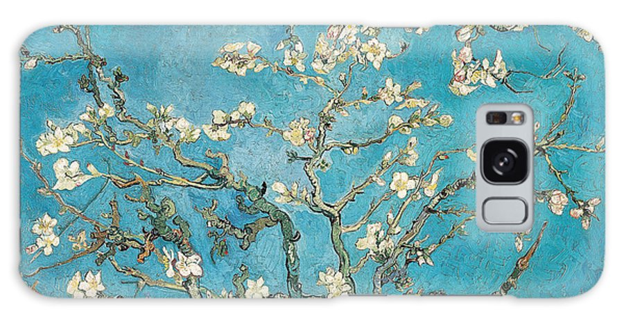Van Galaxy Case featuring the painting Almond branches in bloom by Vincent van Gogh