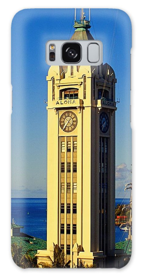 Aloha Galaxy S8 Case featuring the photograph Aloha Tower by Jenny Hudson